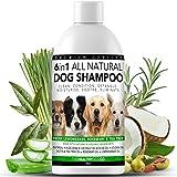 Shampoo Naturale Per Cani 6 in 1 | Citronella, Rosmarino e Tea Tree | 500ml | Il Miglior Shampoo Per il Tuo Cane | Scioglie i Nodi, Nutre, Idrata, Riduce il Prurito, Elimina Germi e Cattivo Odore