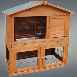 Una gabbia per conigli grande e facile da pulire