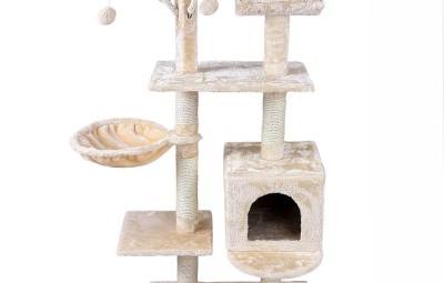 tiragraffi per gatti con vari livelli e giochi